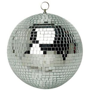 25cm diameter glass mirror ball - glitter ball for parties!