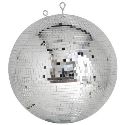 "large 40cm 16"" glass disco ball with 7mm x 7mm mirror facets"