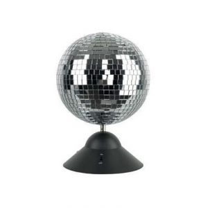 Free standing mirror ball and spinning rotating motor kit