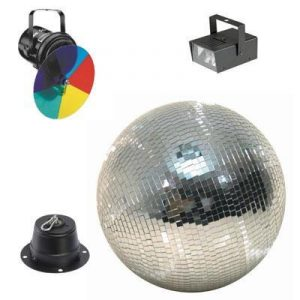 40cm mirror ball and disco light set