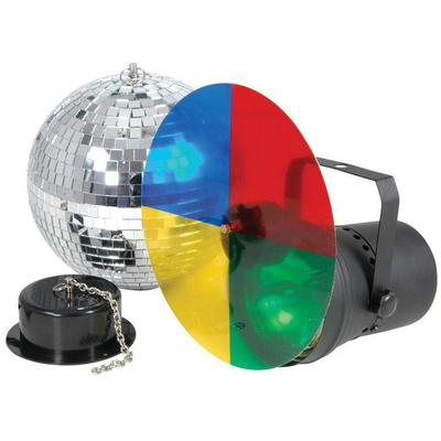 Disco mirror ball, light and rotating motor kit