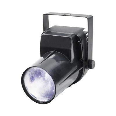 Black LED pinspot light used with mirror balls