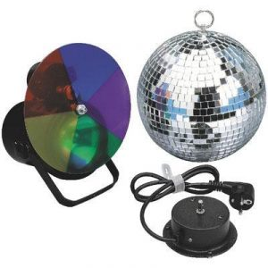 mirror ball and disco light kit